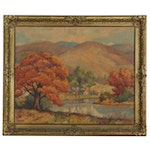 "Landscape Oil Painting ""Ozark Mountains,"" Early 20th Century"