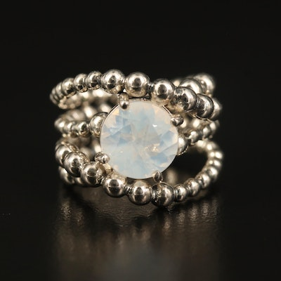 Michael Dawkins Sterling Quartz Ring