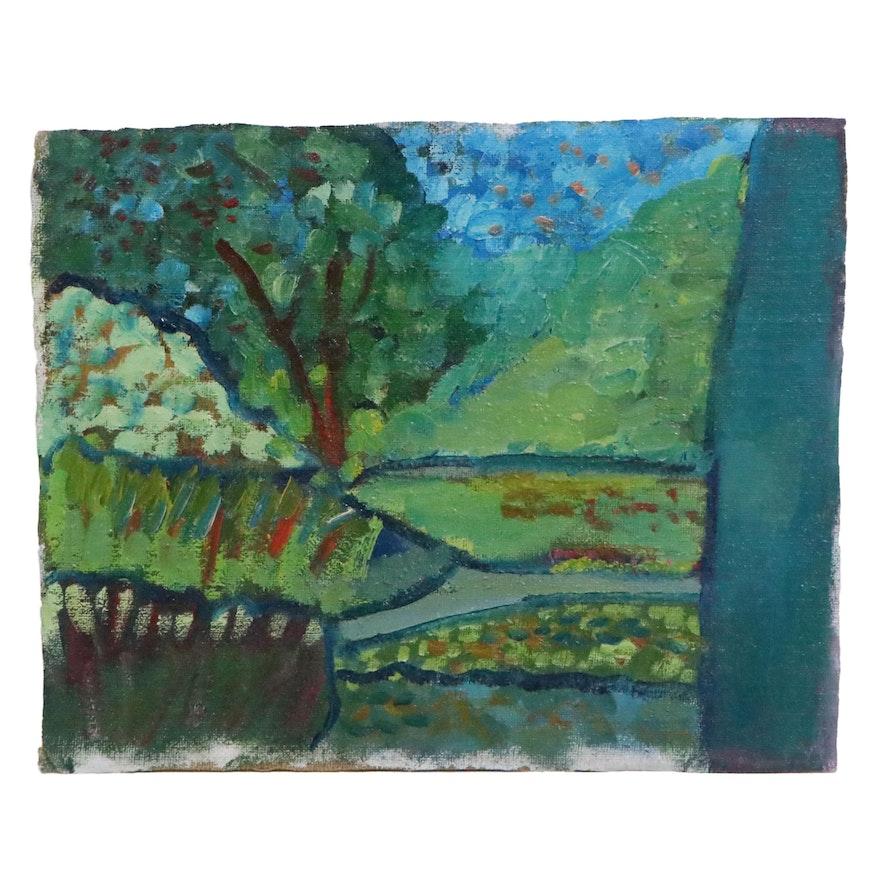 Jerald Mironov Landscape Oil Painting, 1995