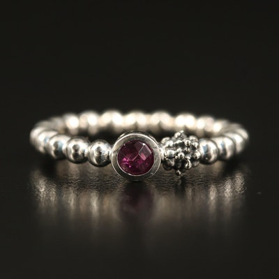 Michael Dawkins Rhodolite Garnet Drop Ring