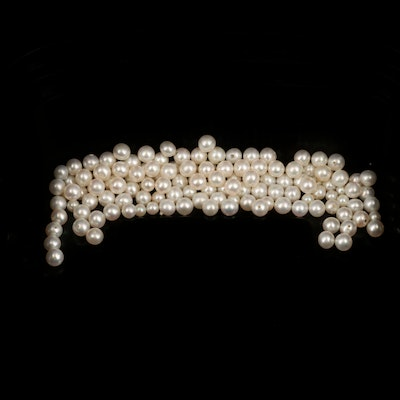 Loose Near-Round and Button Pearls