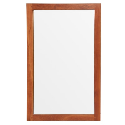 Arts & Crafts Style Walnut Framed Wall Mirror