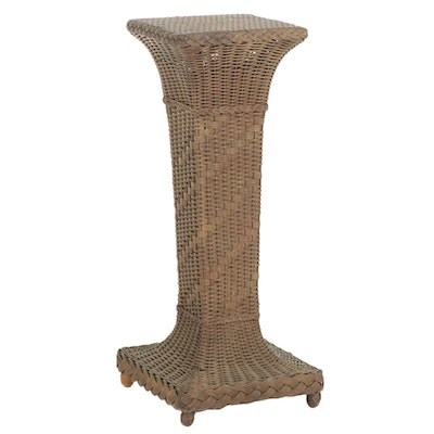 Late Victorian Wicker Plant Stand, Late 19th/ Early 20th Century