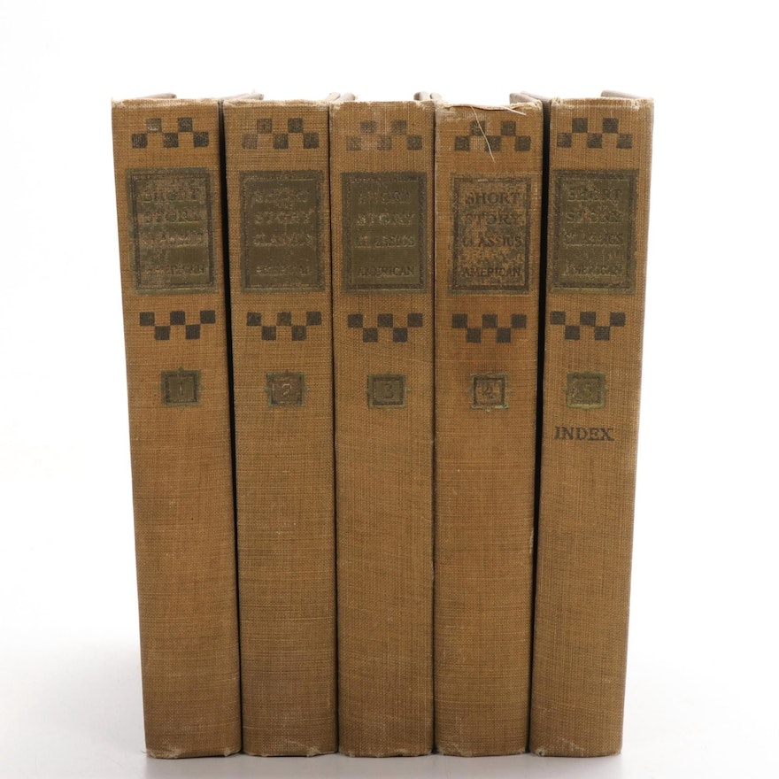 """Short Story Classics: American"" Five-Volume Set Edited by WIlliam Patten, 1905"
