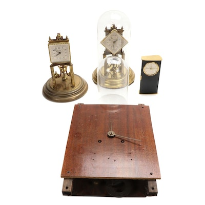 Assorted Clock Cases and Parts, Mid-20th Century
