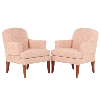 "Pair of Stickley ""Oak Park"" Upholstered Armchairs"