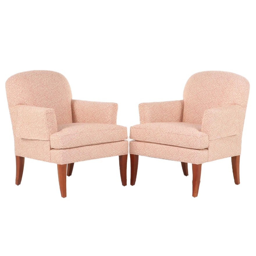 """Pair of Stickley """"Oak Park"""" Upholstered Armchairs"""