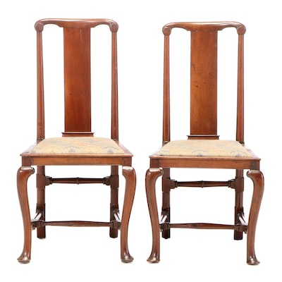 Pair of George I Walnut Side Chairs, Early 18th Century