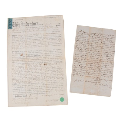 Legal Documents, New York and Kentucky, 19th Century