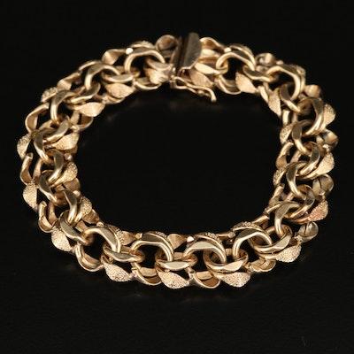 Vintage 14K Link Bracelet