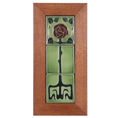 """Rookwood Pottery """"Eden Rose"""" Framed Ceramic Tiles, 2007"""