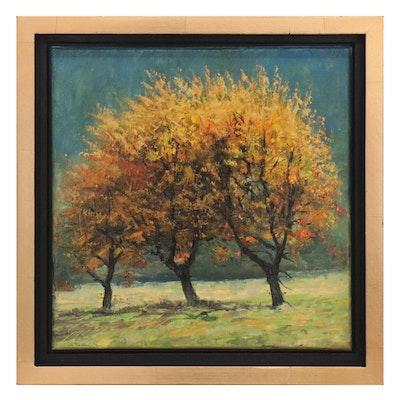 "Garncarek Aleksander Oil Painting ""Drzewa"""