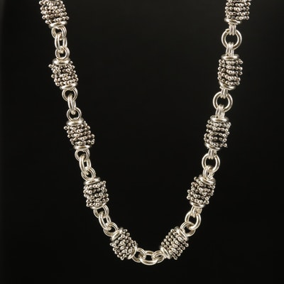 Michael Dawkins Sterling Stacked Bead Necklace