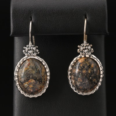 Michael Dawkins Sterling Silver Jasper Drop Earrings
