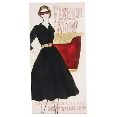 Fabrice de Villeneuve Giclée of 1950 Fashion Advertisement