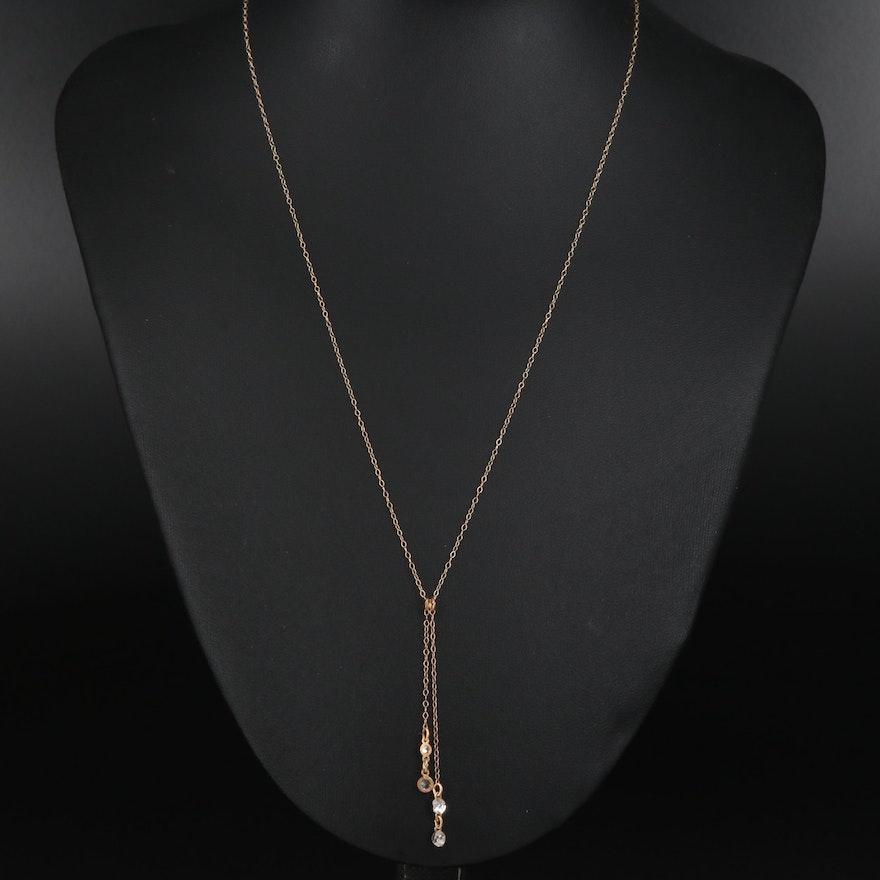 10K Cubic Zirconia Pendant Necklace