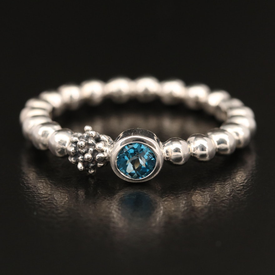 Michael Dawkins Sterling Silver Topaz Ring