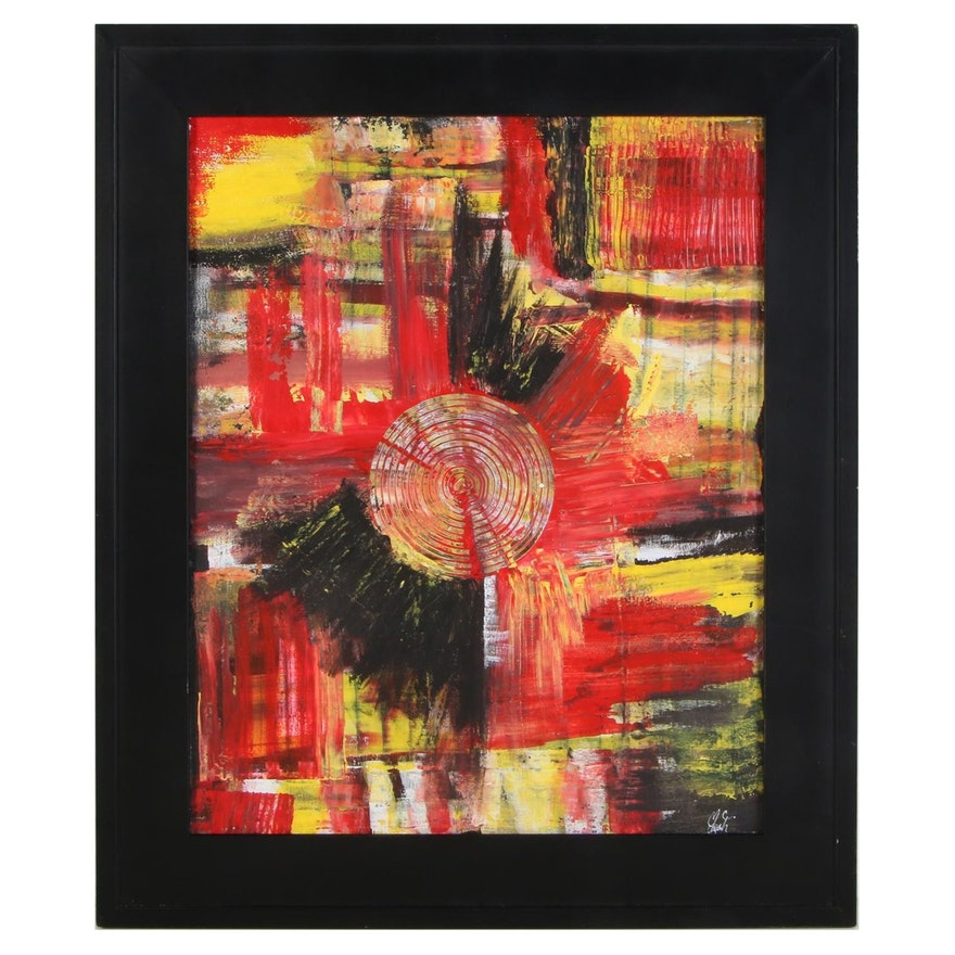 "MahLeah Cochran Acrylic Painting ""Mars,"" 2018"