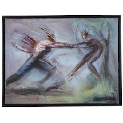 "Matthew Freel Oil Painting ""Ares Slaying Tecumseh (Jackson's Dream),"" 2012"