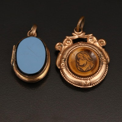 Vintage Reversible Locket and Watch Fob
