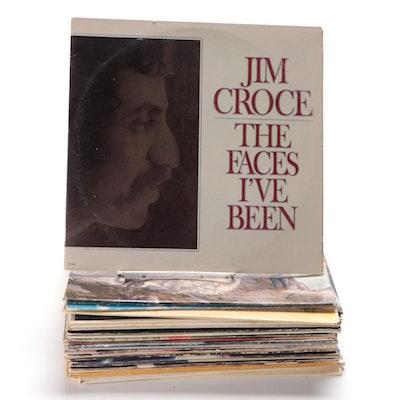 Jim Croce, Paul Simon, Joan Baez and Other Vinyl Records