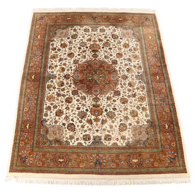 9'2 x 12'5 Hand-Knotted Persian Ahar Wool Room Sized Rug