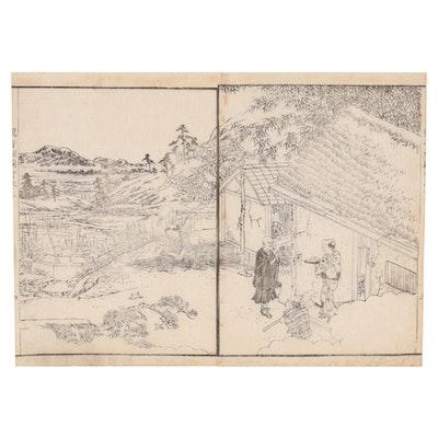 "Woodblock after Sakai Hōitsu ""Korin Hyaku-zu,"" Early 20th Century"