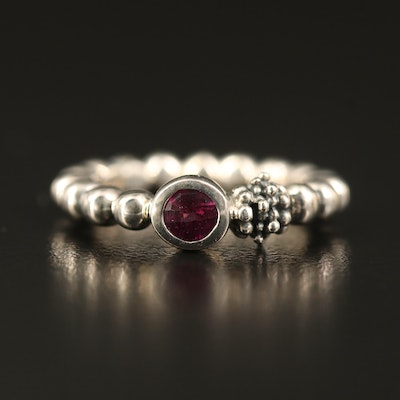 Michael Dawkins Sterling Garnet Ring