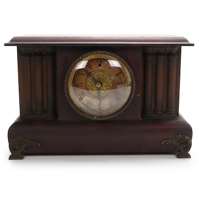 Gilbert Clock Co. Wood Cased Mantel Clock, Early 20th Century
