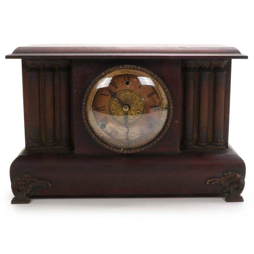 Gilbert Clock Co. Wood Cased Mantel Clock, Early 20th Century