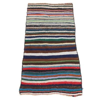 4'3 x 8'4 Handwoven Persian Kilim Area Rug