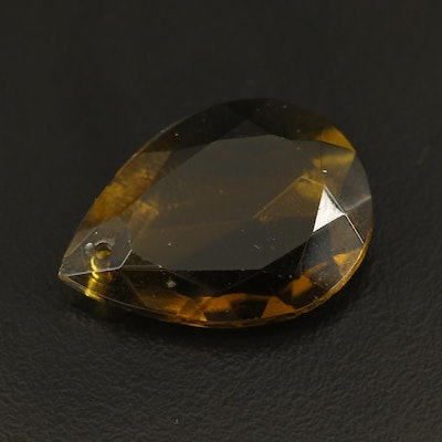 Loose Pear Faceted Glass