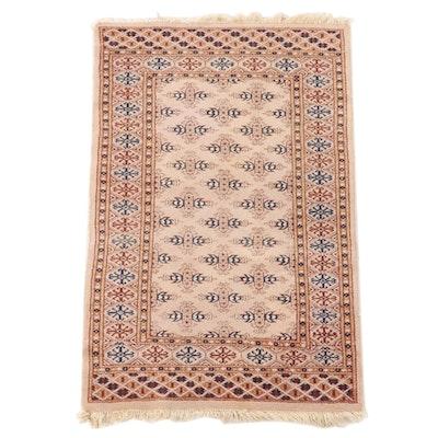 2'7 x 4'3 Hand-Knotted Pakistani Bokhara Wool Area Rug