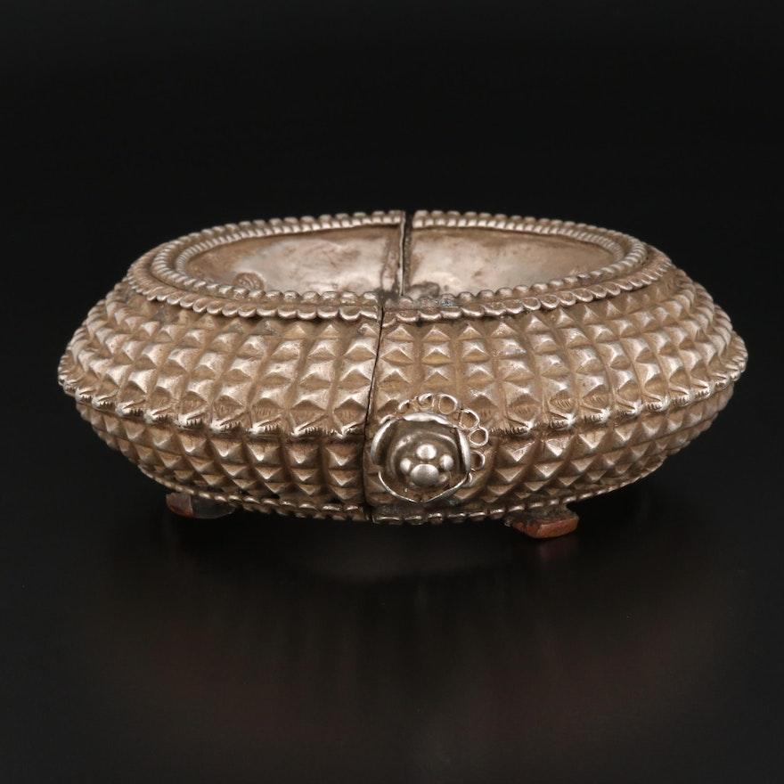"Vintage Indian Orissan ""Kharu"" Tribal Bracelet with Lotus Blossom"