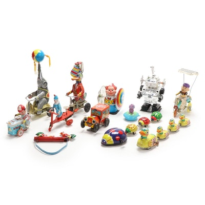 Chinese Wind-Up Tin Toys, Vintage