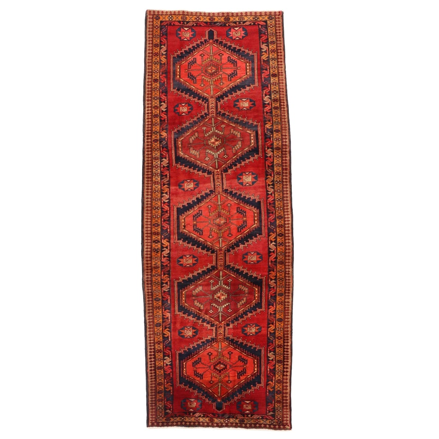 3'8 x 10'10 Hand-Knotted Northwest Persian Ardebil Long Rug