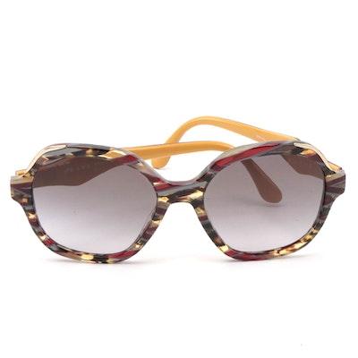 Prada SPR 06U Havana Avio Round Sunglasses