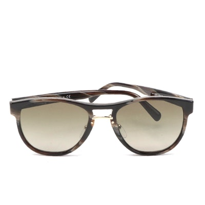 Prada SPR 09U Double Bridged Horn Rimmed Glasses