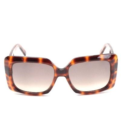Celine CL400961 Light Havana Square Sunglasses