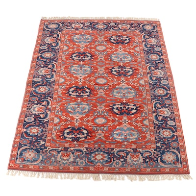 8'11 x 12'3 Hand-Knotted Heriz Serapi Wool Room Sized Rug