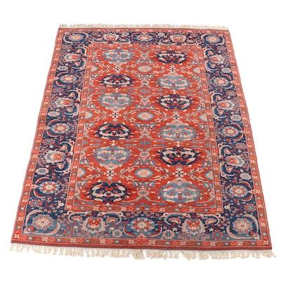 8'11 x 12'3 Hand-Knotted Heriz Serapi Wool Room Sized Rug