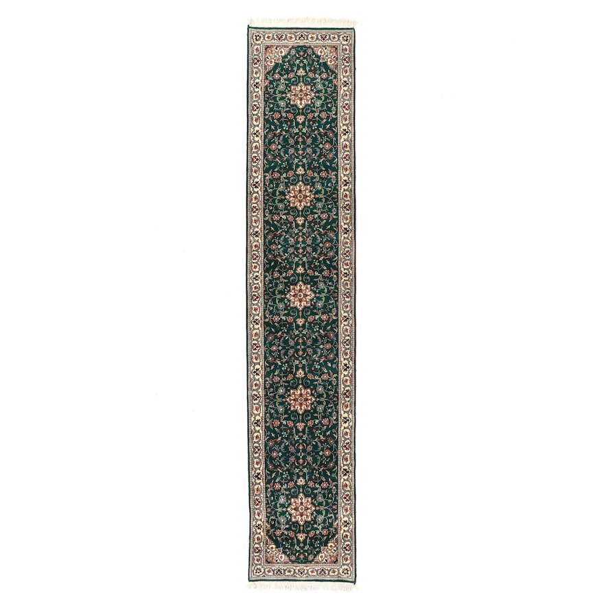 2'6 x 13'2 Hand-Knotted Indo-Persian Tabriz Carpet Runner, circa 2000s