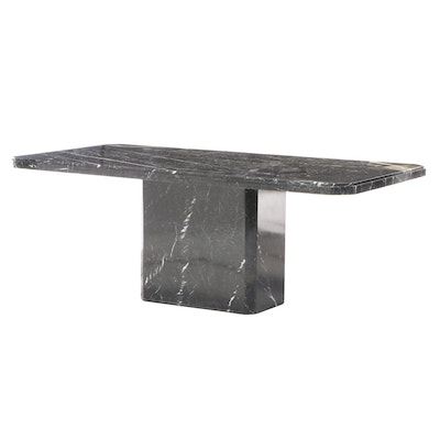 Ello Furniture Marble Pedestal Dining Table, Late 20th Century