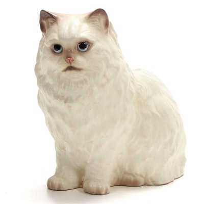 Hagen Renaker Ceramic Persian Cat Figurine, Mid-20th Century