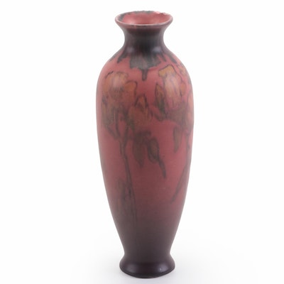 Catherine Calhoun Crabtree Rookwood Pottery Floral Ceramic Vase, 1923