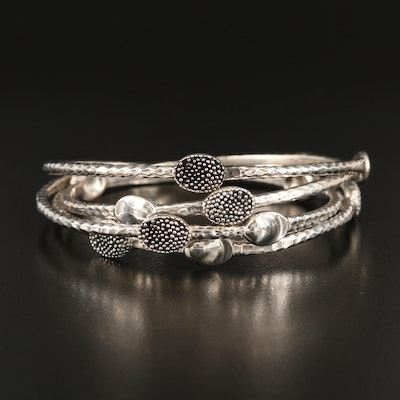 Michale Dawkins Sterling Silver Bangles