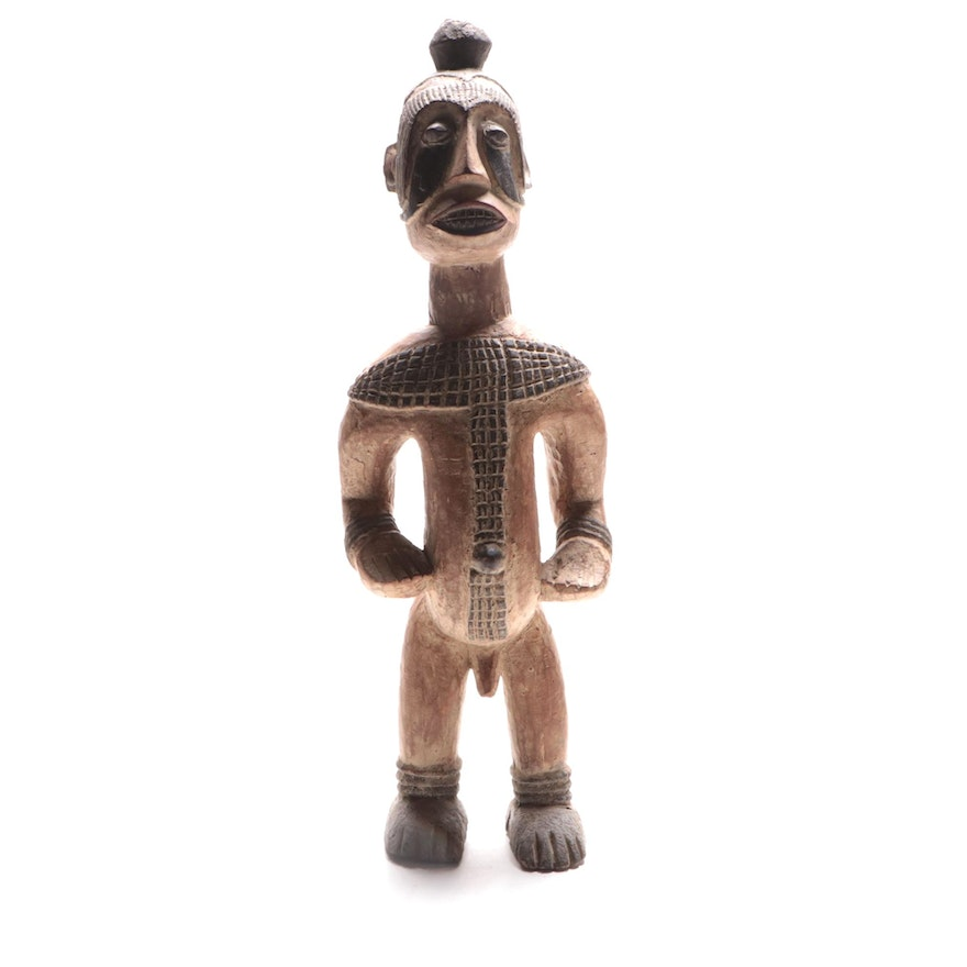 Igbo Style Carved Wooden Figure, Nigeria