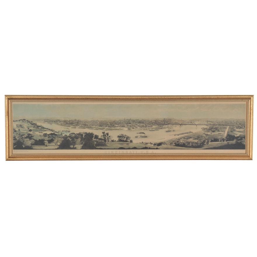 """Offset Lithograph after Charles Ulrich """"Cincinnati, U.S.A.,"""" 1999"""