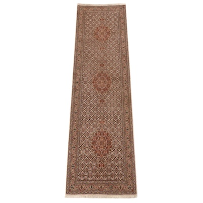 2'7 x 10'1 Hand-Knotted Persian Bijar Wool Carpet Runner