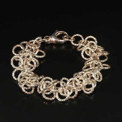Italian Sterling Diamond Cut Bracelet